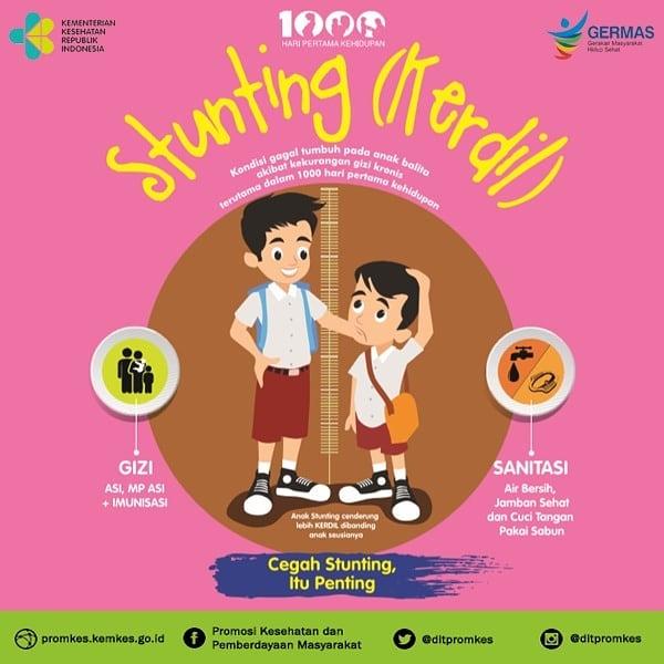 Pencegahan stunting pada anak harus dilakukan sejak dini, jadi selalu ingat untuk cukupi gizi, lakukan imunisasi, dan perbaiki sanitasi. Cegah Stunting Itu Penting!