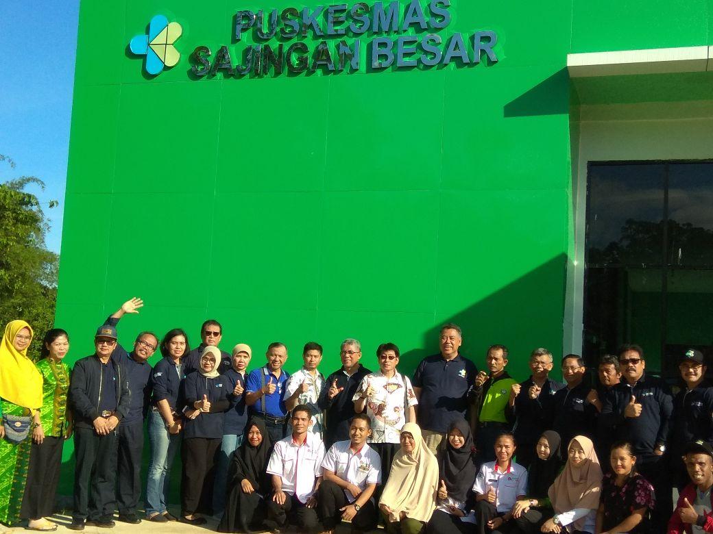 Kunjungan Sekjen Kemenkes di Perbatasan Indonesia Malayasia Kab Sambas