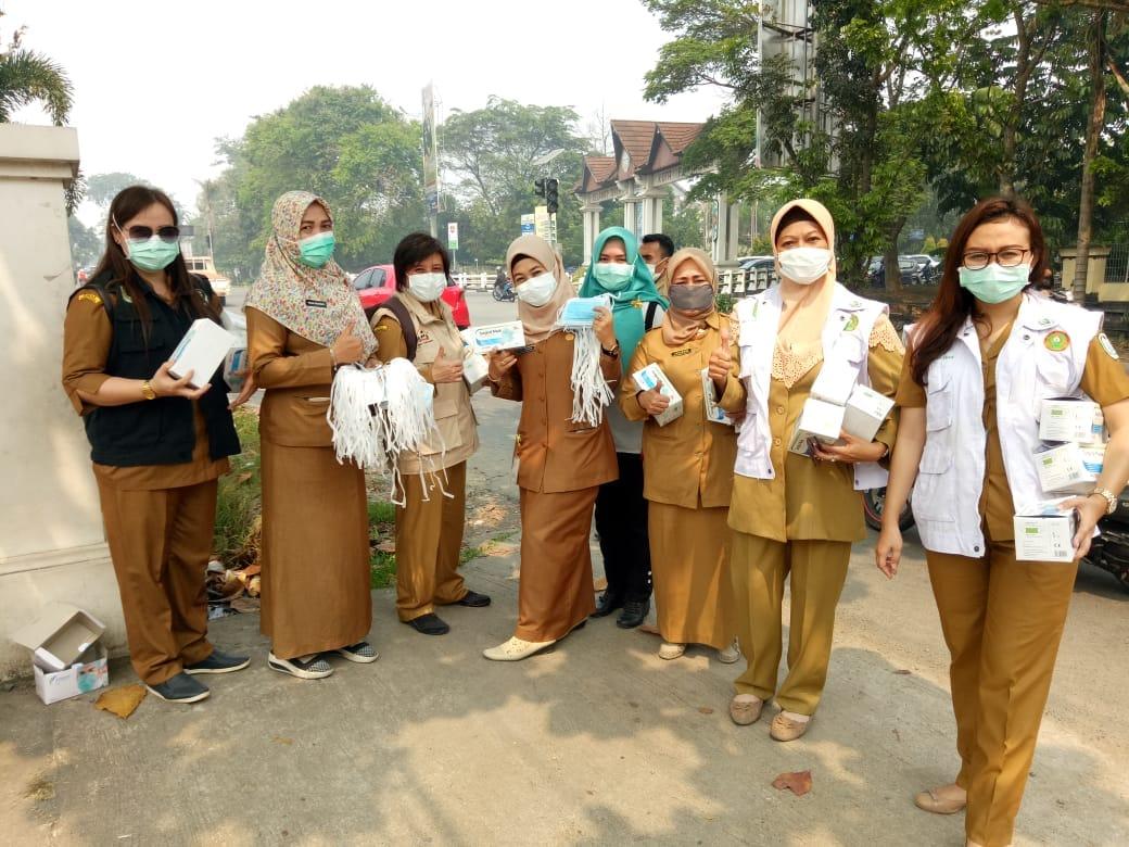 10.000 Masker dibagikan Antisipasi Gangguan Kesehatan – 9