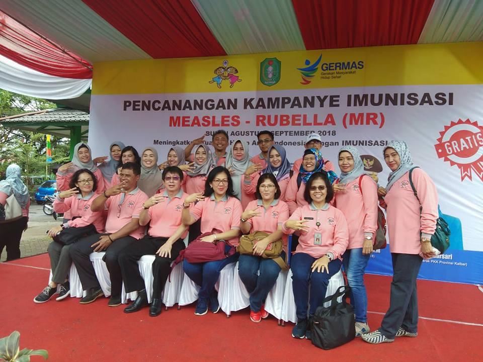 Pencanangan Kampanye Imunisasi MR
